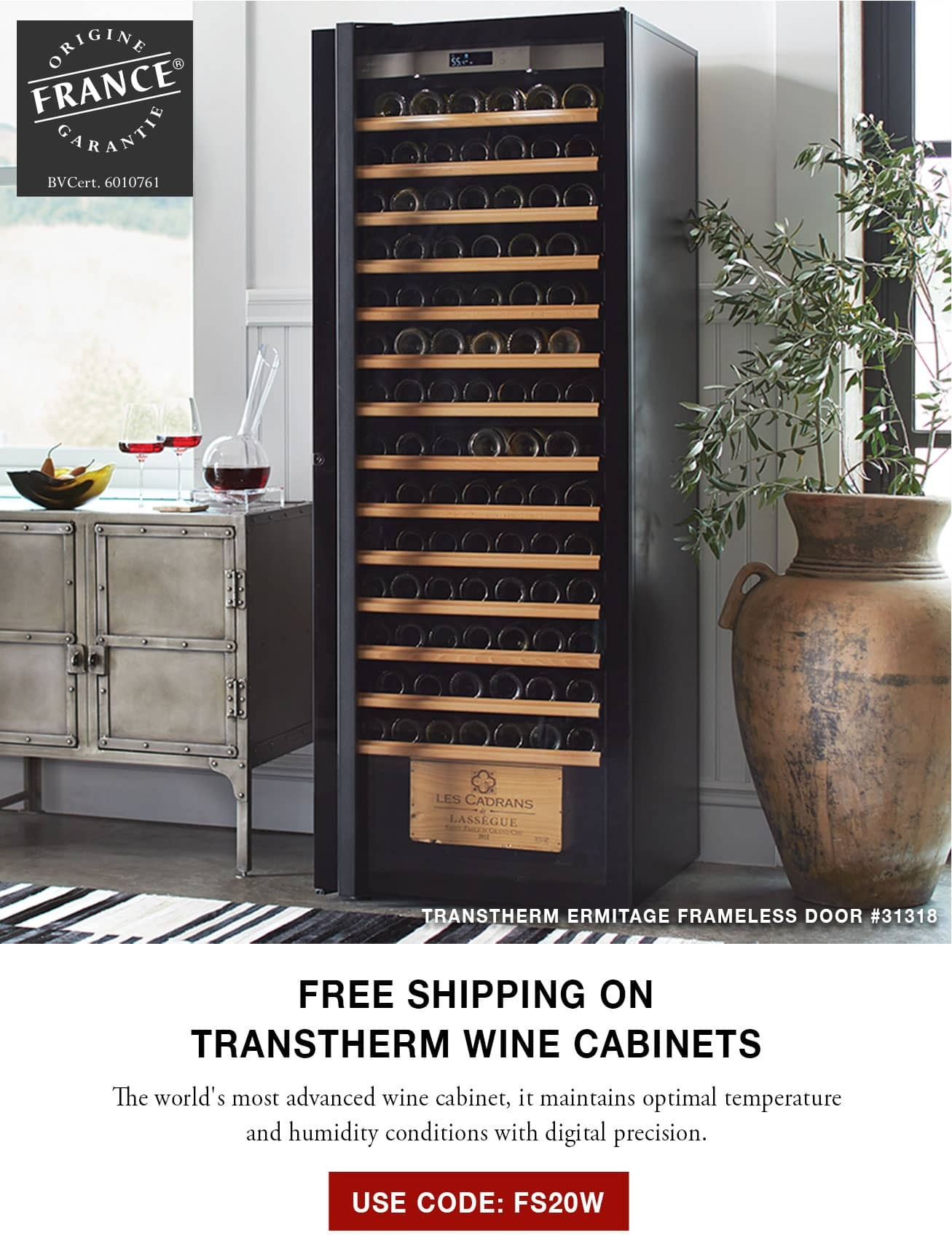 Transtherm Wine Cabinets - Free Shipping - Use Code FS20W