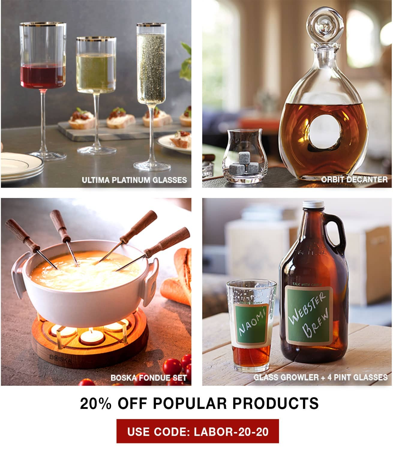 20% Off Select Products - Use Code LABOR-20-20