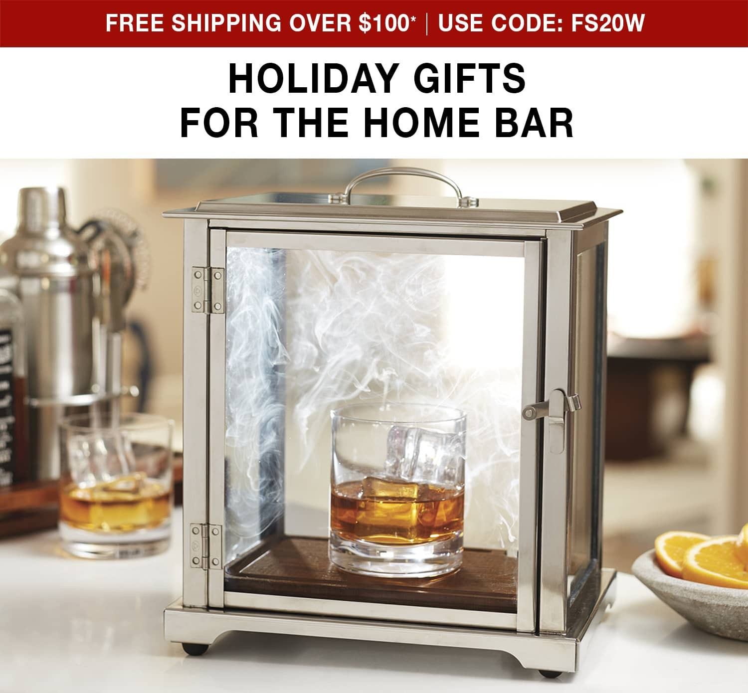 Holiday Gifts For the Home Bar - Free ground shipping on orders over $100 use code FS20W