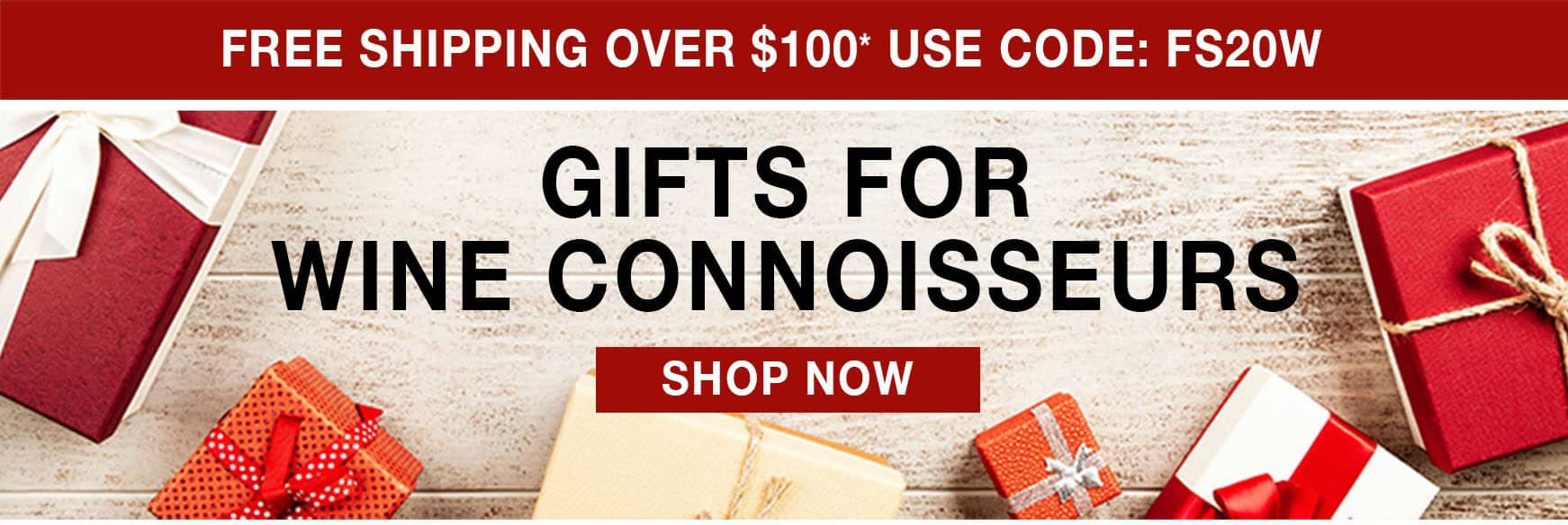 Gifts for Wine Connoisseurs - Free Shipping Over $100* Use Code FS20W
