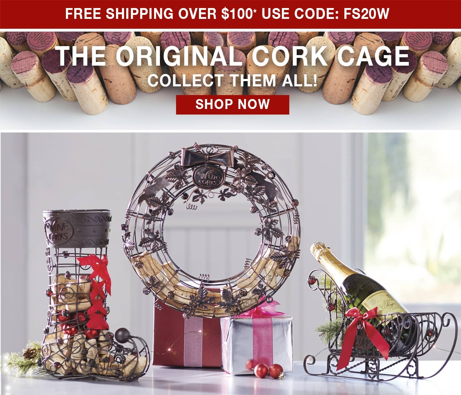 The Original Cork Cage - Free Shipping over $100 use code FS20W