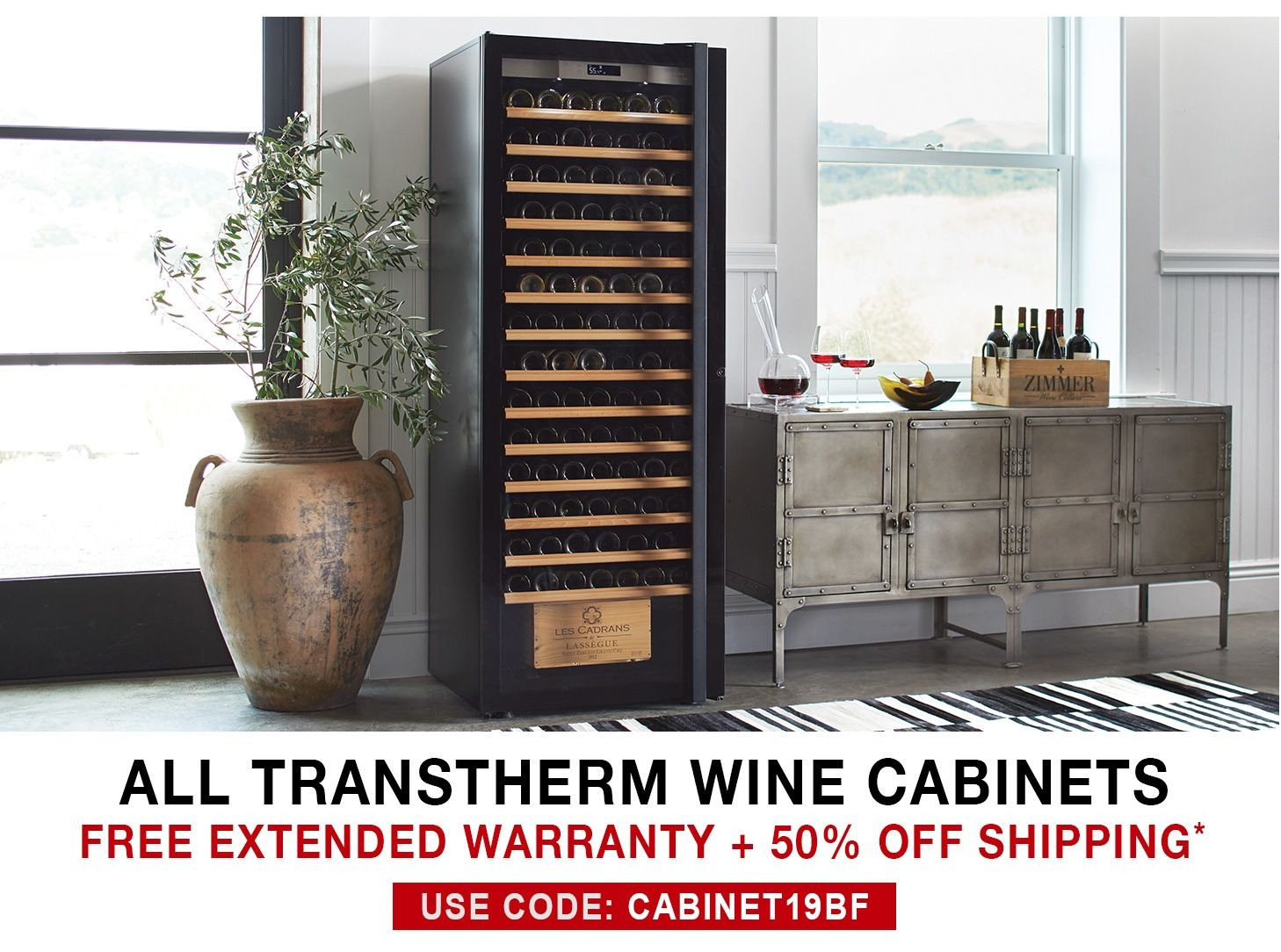 Transtherm Wine Cabinets - Free 3 Year Extended Warranty + 50% Off Shipping - Use Code CABINET19BF