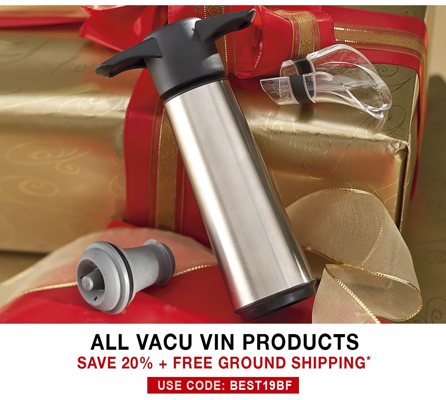 Vacu Vin Wine Saver - 20% Off + Free Ground Shipping - Use Code BEST19BF
