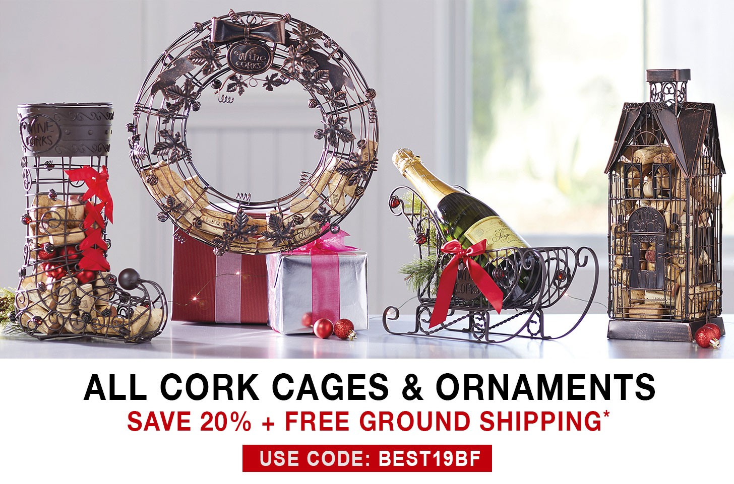 Cork Cages - 20% Off + Free Ground Shipping - Use Code BEST19BF