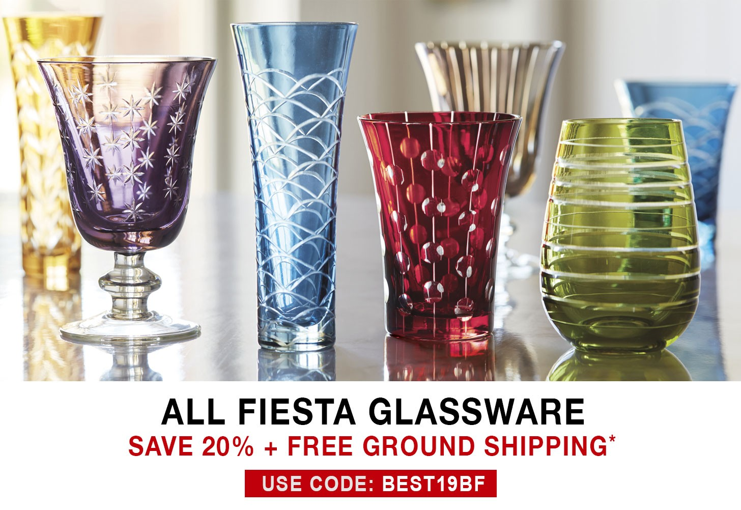 Fiesta Glassware - 20% Off + Free Ground Shipping - Use Code BEST19BF