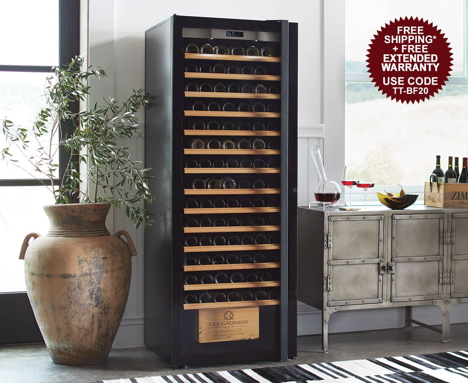 Transtherm Wine Cabinets - Free 3-Year Extended Warranty + Free Ground Shipping - Use Code TT-BF20