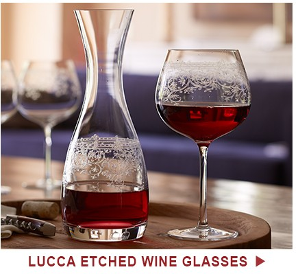 Lucca Etched Wine Glasses