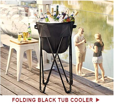 Folding Black Tub Cooler